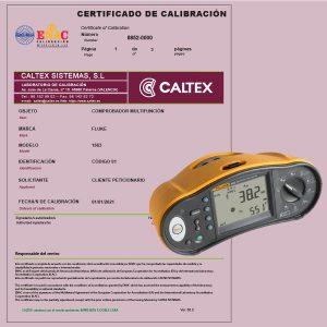 Calibración Analizador de Redes_ certificado ENAC